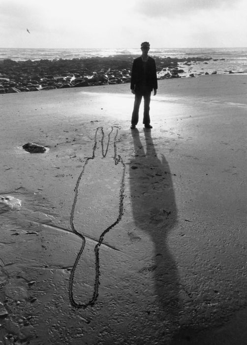 Shadow in sand of isle wight