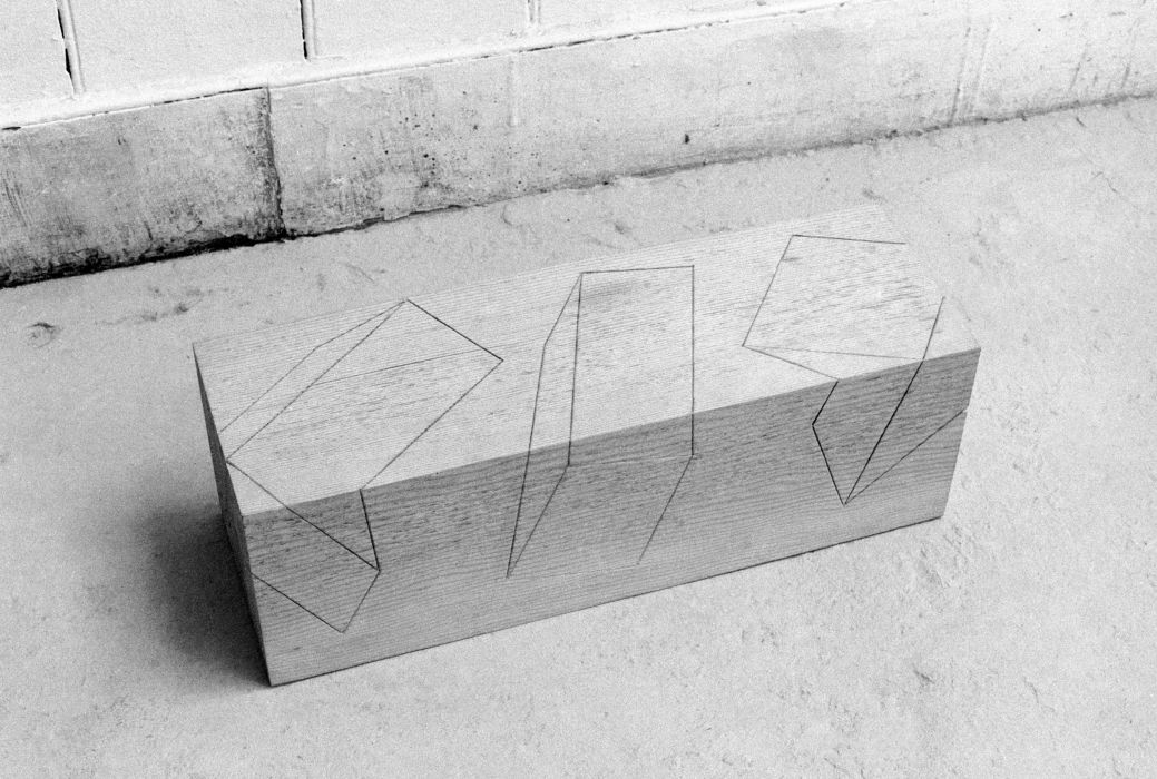 drawing on a block